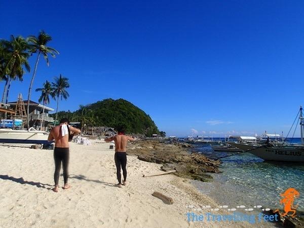 Apo Island shoreline
