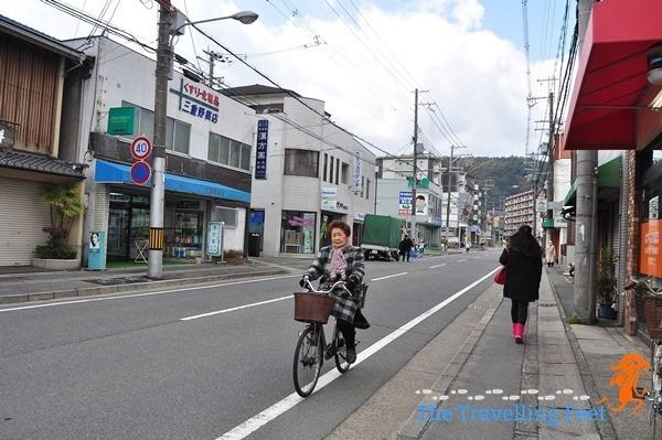woman biker in japan