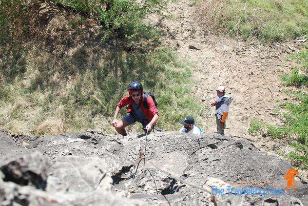 marcos caratao getting ready to climb