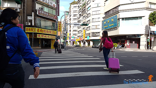 walking in the Datong District in Taipei