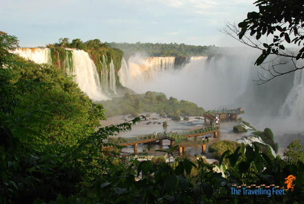 a glimpse of iguacu falls