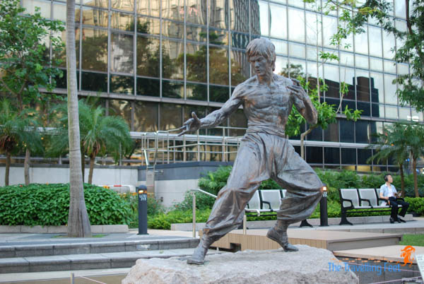 bruce lee at the avenue of stars