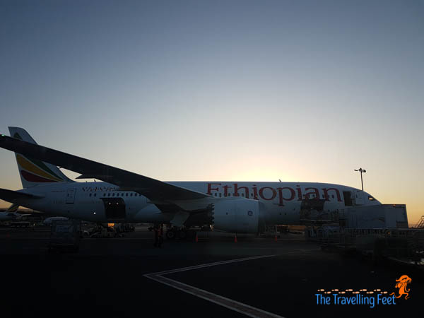 landing at Addis Ababa Airport in Ethiopia