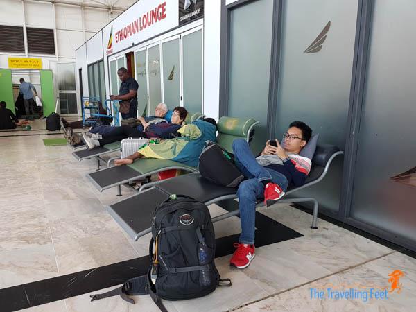 sleeping lounge at Addis Ababa Bole International Airport