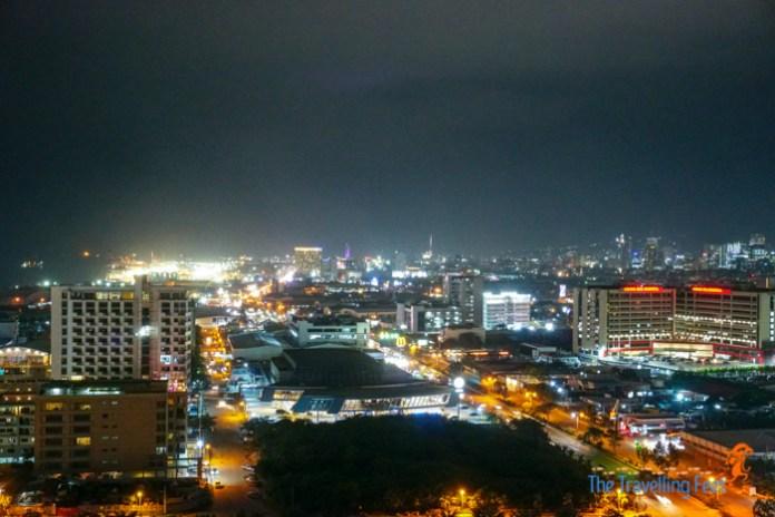 Cebu city at night from Bai hotel