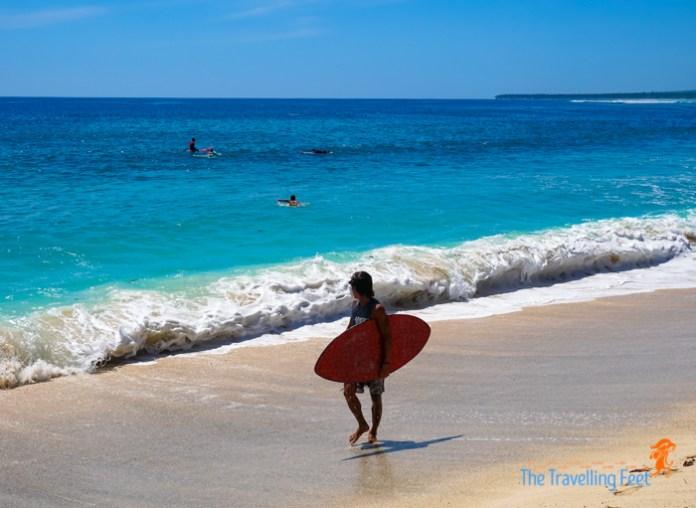 shore break at dahican beach