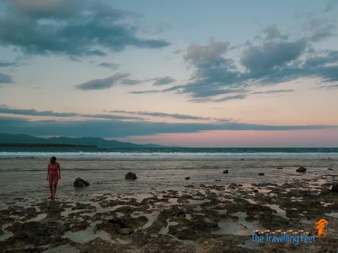 sunset at Dahican beach