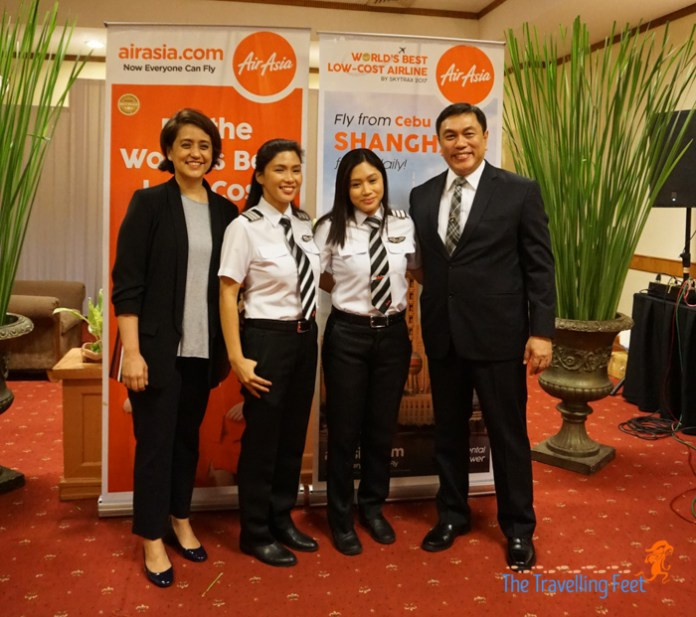 aireen omar and capt dexter comendador with pilots