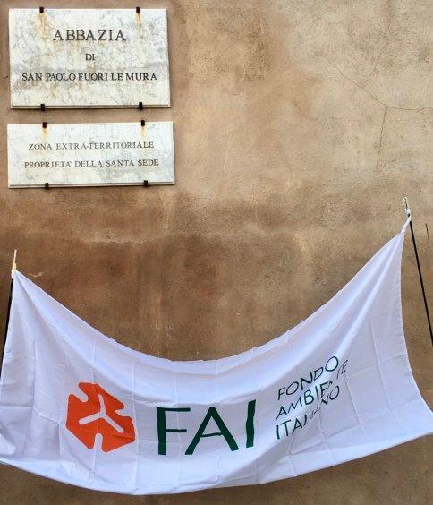 ingresso dell'Orto monastico di San Paolo fuori le mura