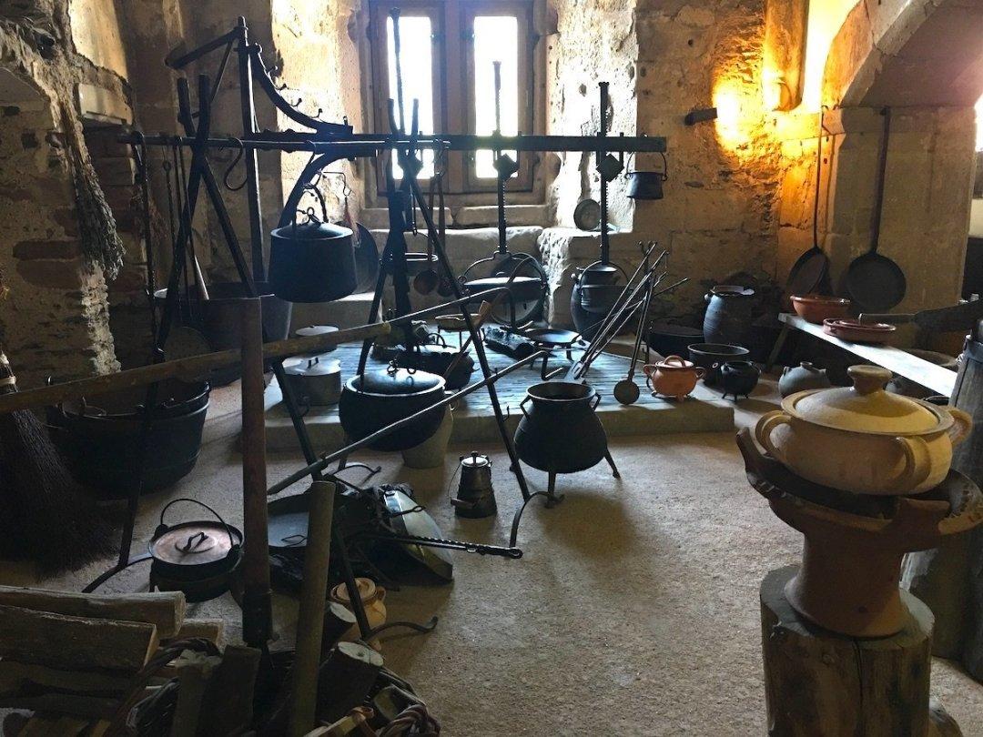 Cucina del castello di Vianden