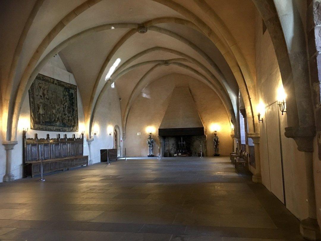 Uno dei saloni del castello di Vianden
