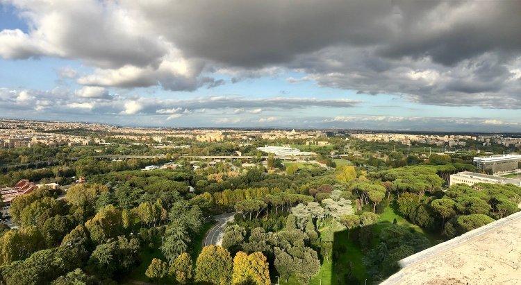 veduta panoramica dalla terrazza