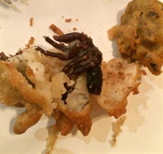 Tarantula doughnuts at the Bugs Cafe, Siem Reap, Cambodia