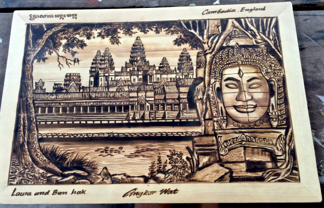 Work of art iron pencil drawing with Backstreet Academy, Siem Reap, Cambodia
