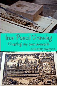 Review of iron pencil drawing with Backstreet Academy, Siem Reap, Cambodia