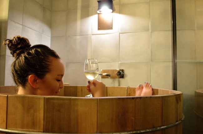 Japanese bathtub at Bisma Eight, Ubud, Bali, Indonesia