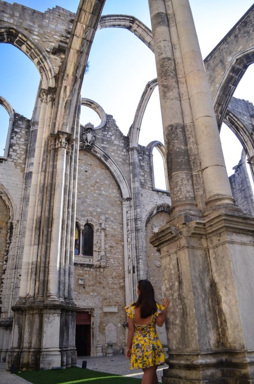 Wandering through Carmo convent in Lisbon, Portugal