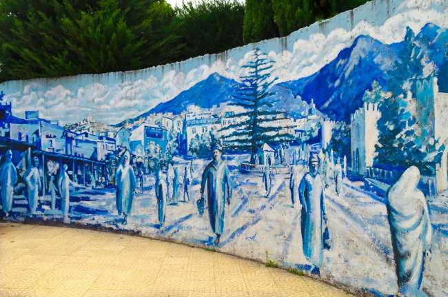 Murals in Chefchaouen, Morocco