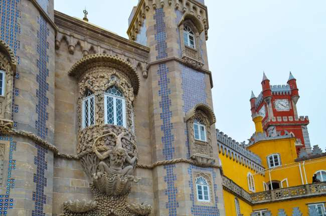 Pena Palace architecture, Sintra, Portugal