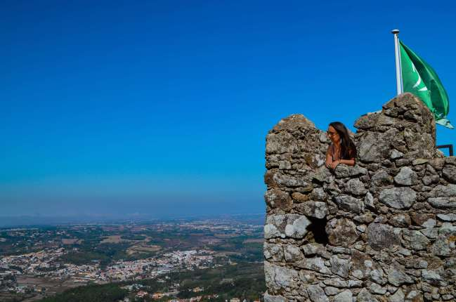Enjoy the view from the ramparts of the Moorish Castle, Sintra, Portugal