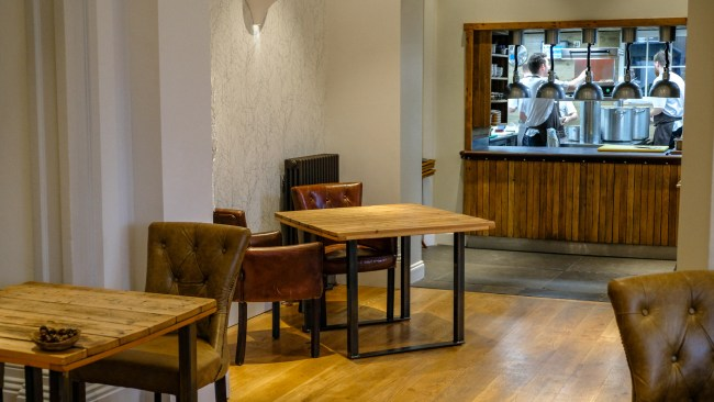 Dining at the Forest Side, Grasmere, Cumbria - Open kitchen