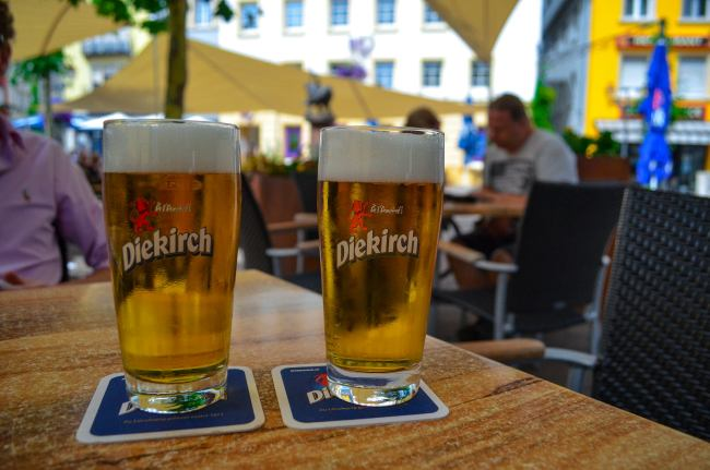 Luxembourg road trip - Pilsner beers in Diekirch, Luxembourg