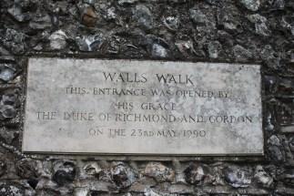 Walls Walk sign