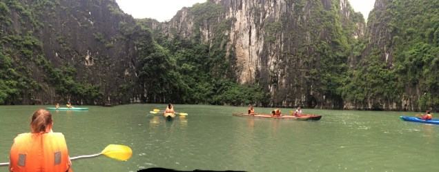 Kayaking in and amongst the forck formations was really fun!