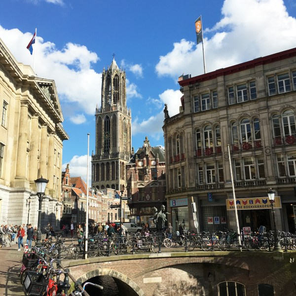 Bikes everywhere and chained to every available surface | Biking in the Netherlands | Utrecht | The Travel Medley