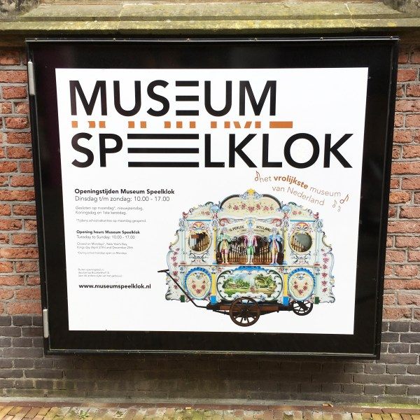 Museum Speelklok poster featuring street organ | Utrecht | The Travel Medley