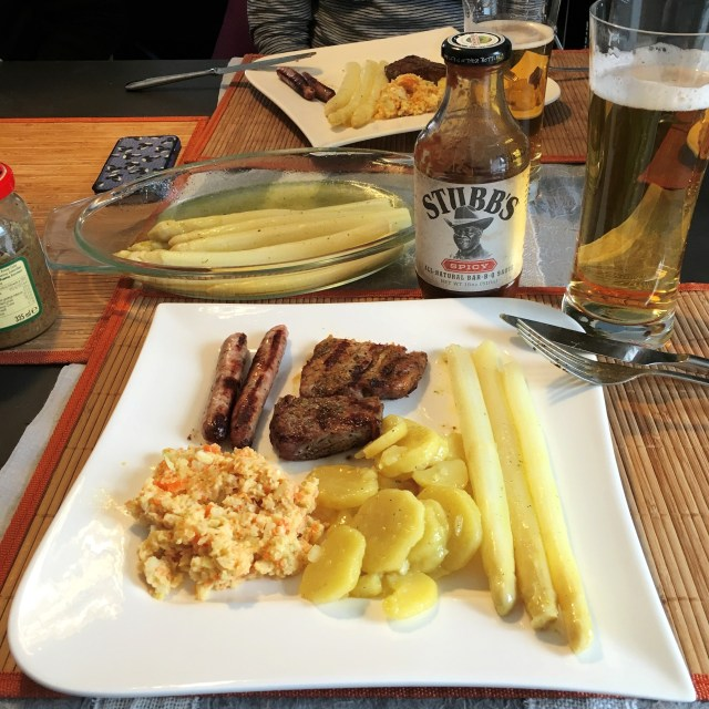 BBQ, coleslaw, white asparagus   Schwabach With A Local   Germany   The Travel Medley