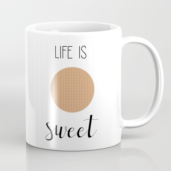 Life is Sweet | Stroopwafel Art Print | The Travel Medley
