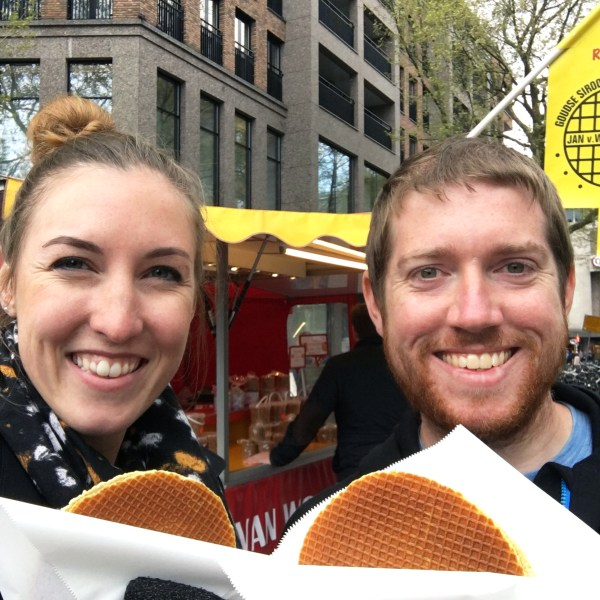 Eating stroopwafels in Rotterdam   The Netherlands   The Travel Medley
