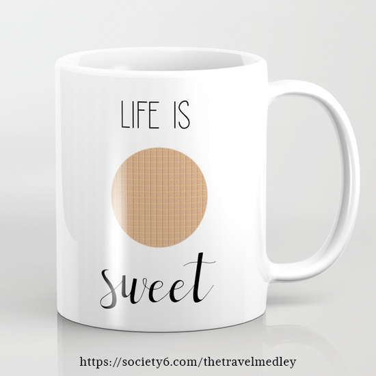 Life Is Sweet | Stroopwafel Mug | The Travel Medley