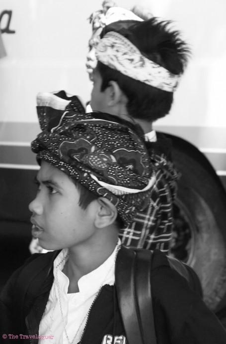 Boys on school tour, Ubud, Indonesia