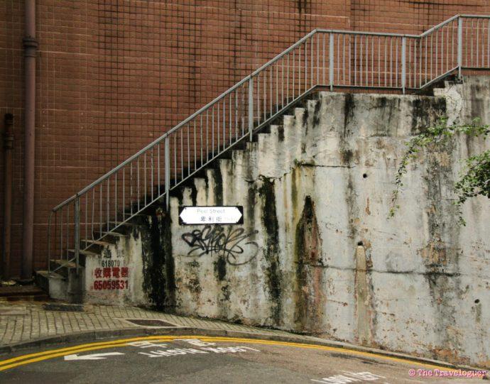 stairs escalators hong kong