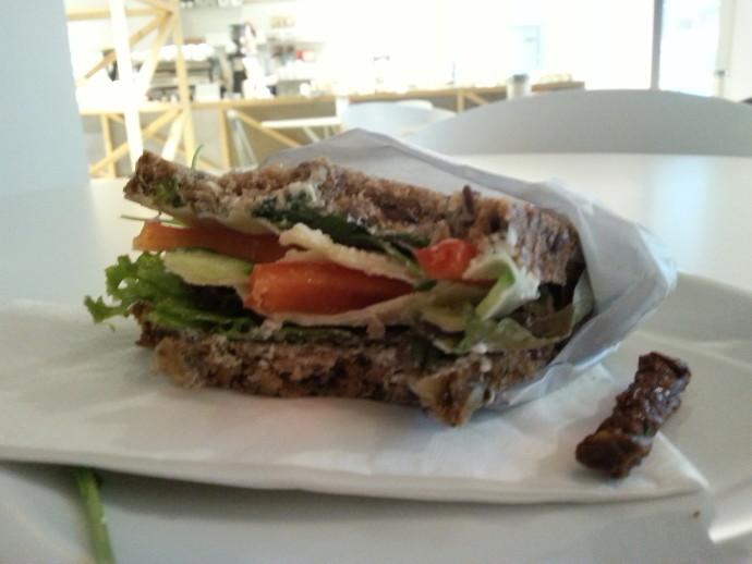 Sandwich at West Berlin - How to visit Berlin on a budget - winter break breakdown - The Traveloguer Travel Blog