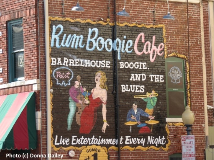 The Rum Boogie Cafe on Beale Street in Memphis, Tennessee