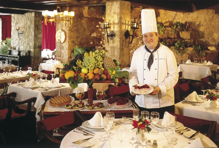 The main restaurant at the Hotel Bon Sol Resort and Spa in Mallorca in Spain.