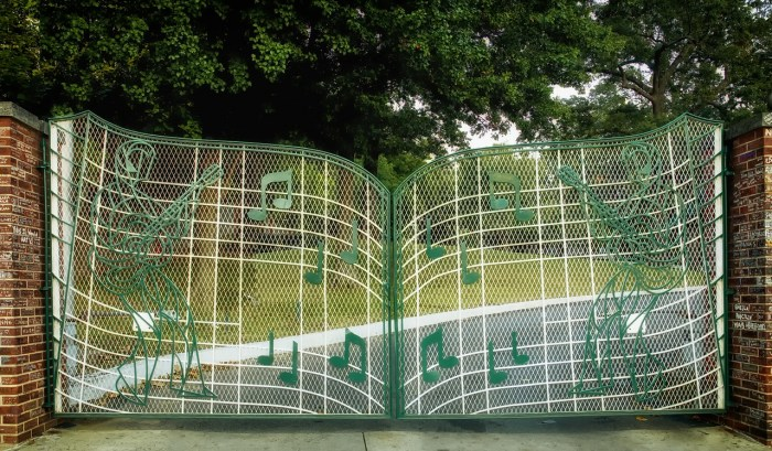 The Gates at Graceland, Elvis Presley's home in Memphis, Tennessee