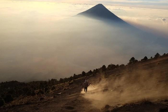 The Acatenango volcano near Antigua, Guatemala