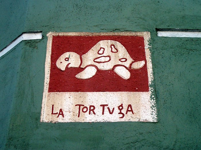 La Tortuga street sign in Merida, Yucatan, Mexico