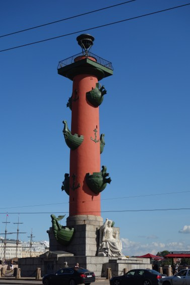 One of two rostral columns dating from 1811 that used to serve as a beacon marker for ships who came to port.