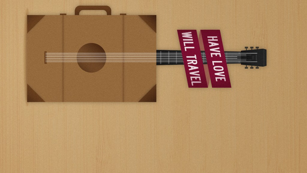 Guitar Shaped Suitcase