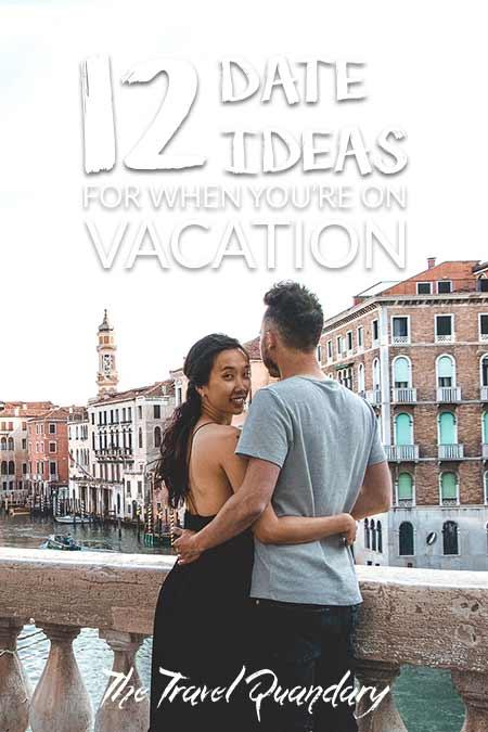 Pin Photo: A couple stand on the Rialto Bridge in Venice - 12 Great Date Ideas