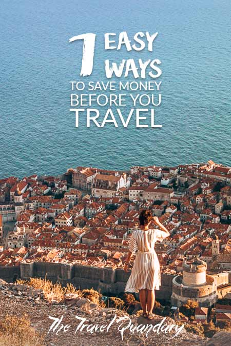 7 Easy Ways to Save Money To Travel| Pinterest Board
