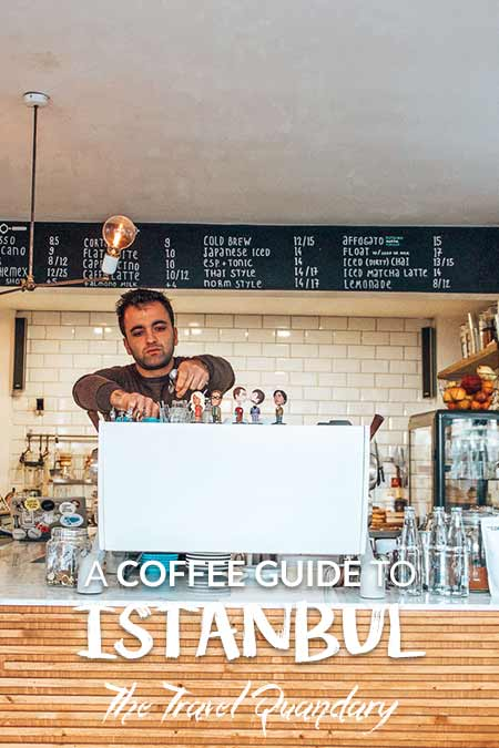 Pin to Pinterest: A barista prepares an espresso coffee at Norm Coffee, third wave coffee in Istanbul