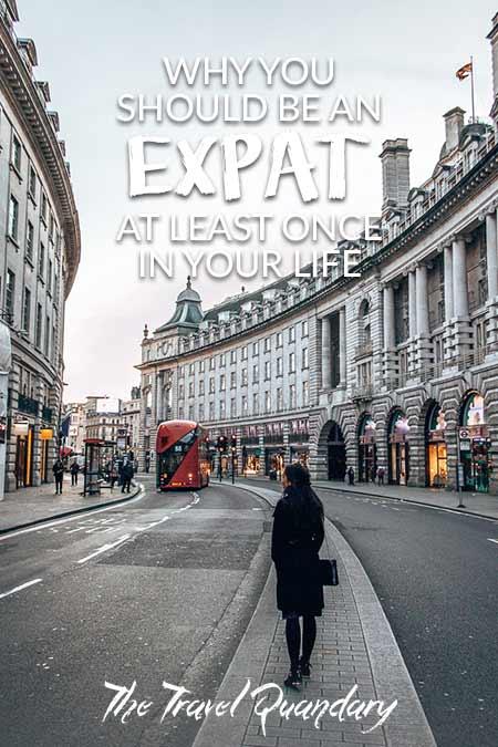A woman stands on Regent Street in London United Kingdom