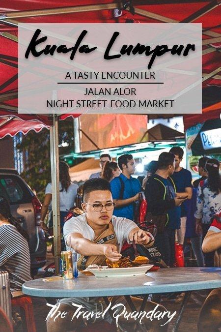 Pin to Pinterest: A man dishes his food seated at Wong Ah Wah