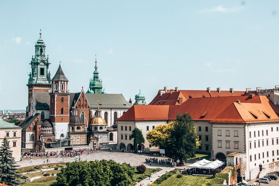 A view of Wawel Royal Castle in Krakow, Poland - one of the best hidden gems of europe